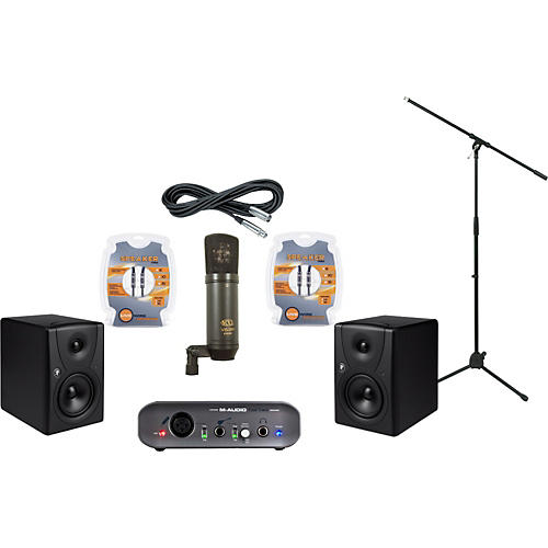 Mackie M-Audio FastTrack MKII and Mackie MR5 Recording Package