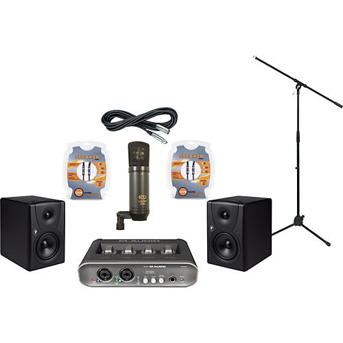 Mackie M-Audio MobilePre MKII and Mackie MR5 Recording Package-thumbnail