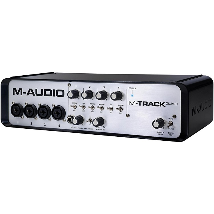 M-AudioM-Track Quad 4 Channel Audio Plus USB MIDI Interface