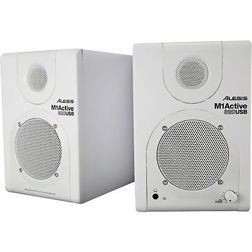Alesis M1 Active 320 USB White Studio Monitor Pair