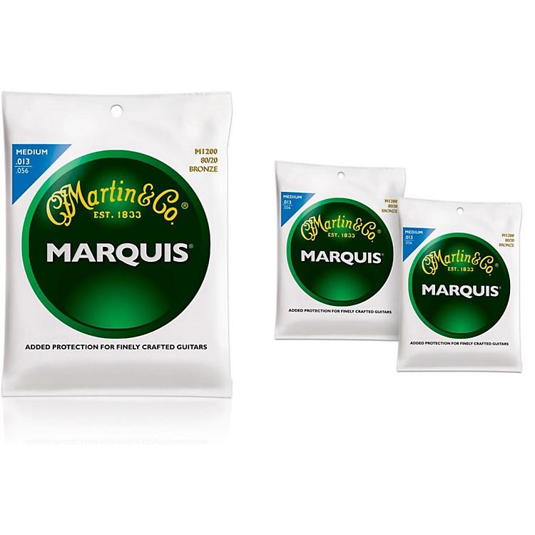 MartinM1200 Marquis 80/20 Bronze Medium Acoustic Guitar Strings - 3 Pack