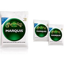 Martin M1200 Marquis 80/20 Bronze Medium Acoustic Guitar Strings (3-Pack)