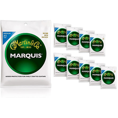 Martin M1200 Marquis 80/20 Bronze Medium Acoustic Strings 10-Pack