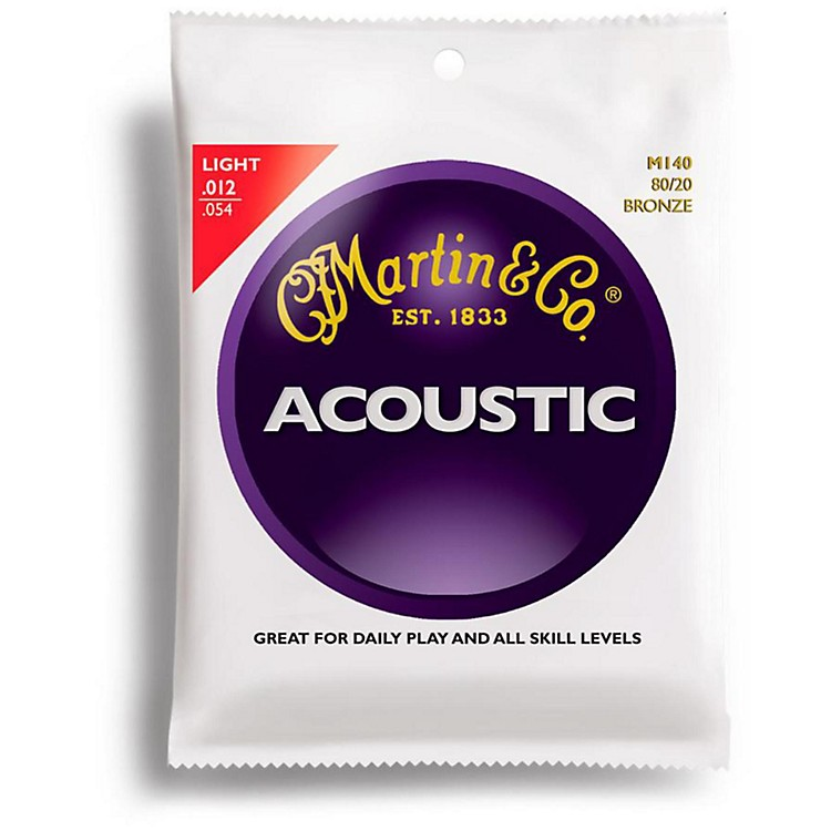 Martin M140 Light Acoustic Guitar Strings