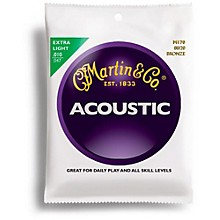 Martin M170 80/20 Bronze Extra Light Acoustic Guitar Strings