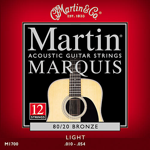 Martin M1700 Marquis 12-String 80/20 Bronze Light Acoustic Guitar Strings