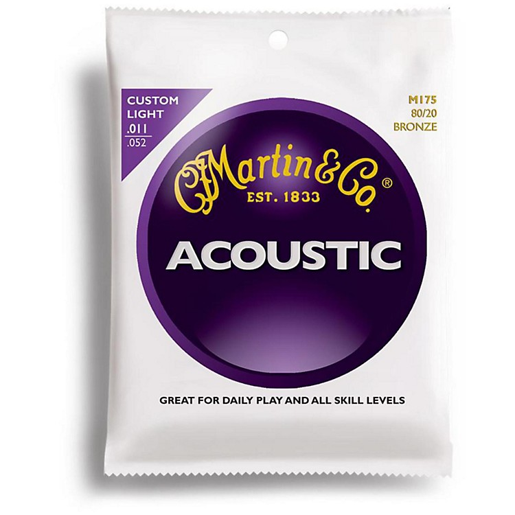 MartinM175 Traditional Bronze Custom Light Acoustic Guitar Strings