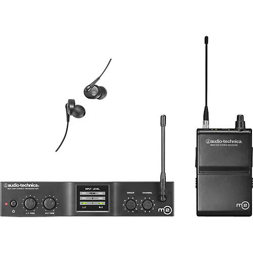 open box audio technica m2 in ear wireless monitor system band l musician 39 s friend. Black Bedroom Furniture Sets. Home Design Ideas