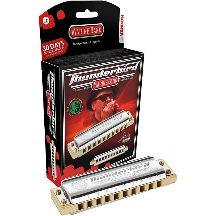 Hohner M2011 Marine Band Thunderbird Low Tuned Harmonica Low A