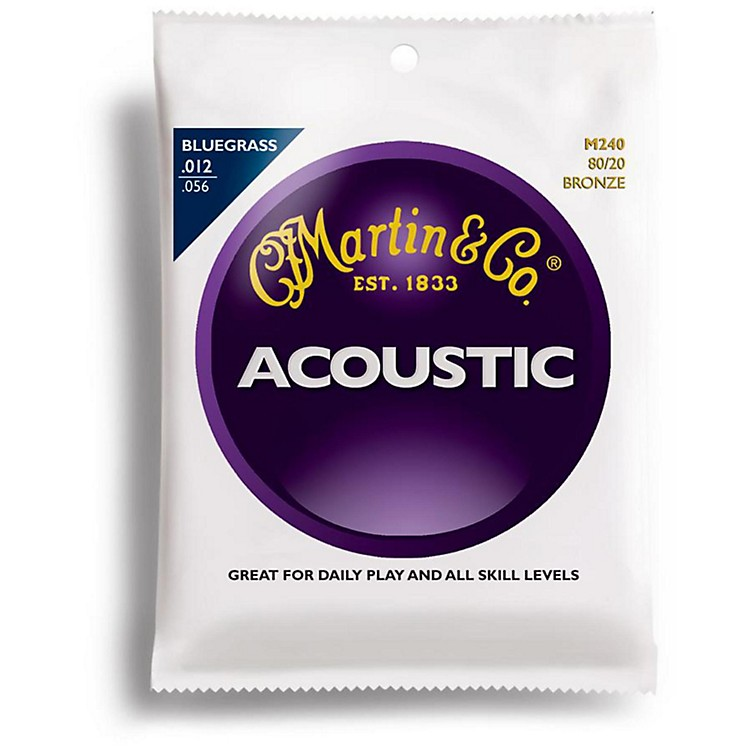 Martin M240 80/20 Bronze Round Wound Bluegrass Medium Light Acoustic Guitar Strings