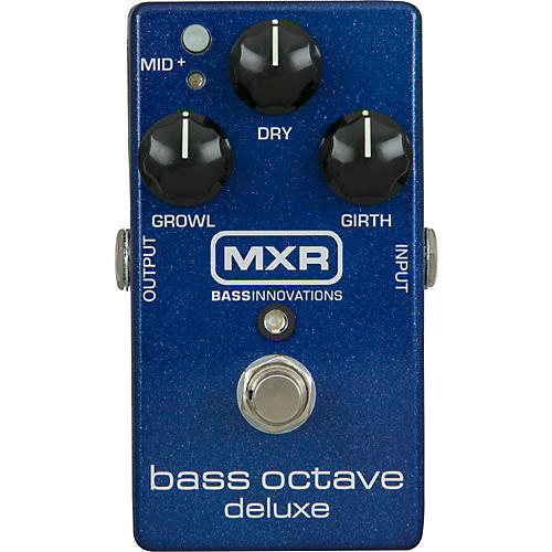 MXR M288 Bass Octave Deluxe Effects Pedal Blue Sparkle