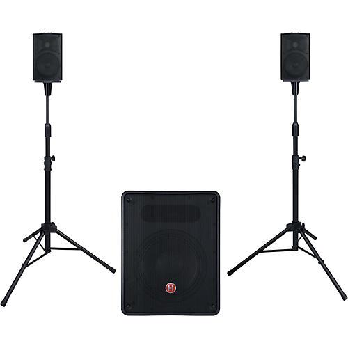 harbinger m350 portable pa system with subwoofer musician 39 s friend. Black Bedroom Furniture Sets. Home Design Ideas