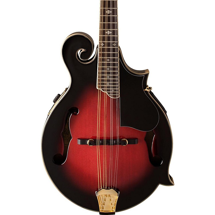 Washburn M3SWE F-Style Acoustic-Electric Mandolin w/case Trans Wine Red