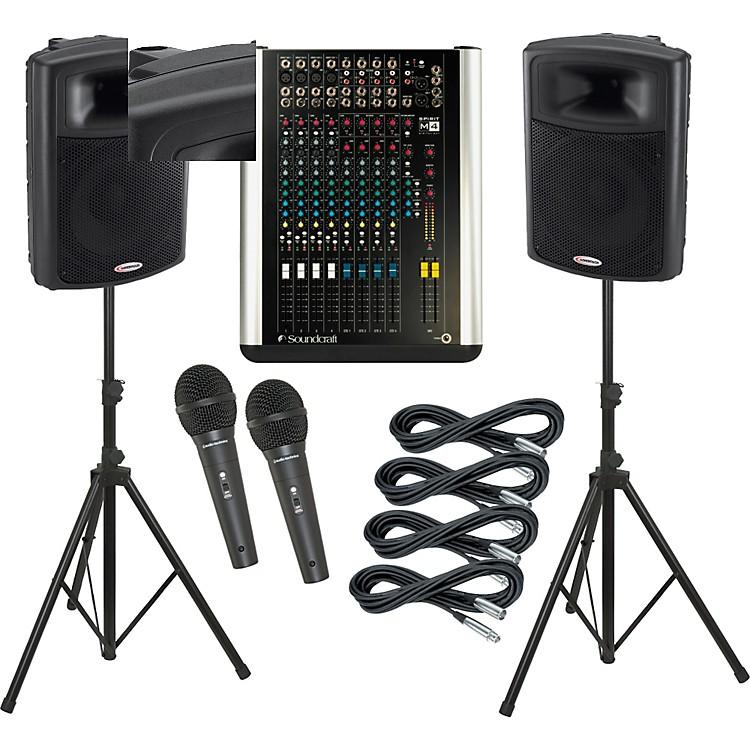 SoundcraftM4 / Harbinger APS15 PA Package
