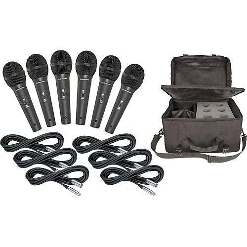 Audio-Technica M4000S 6-Pack Mic and Bag Kit