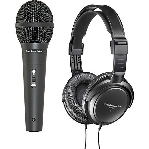 Audio-Technica M4000S Dynamic Handheld Mic with M10 Headphones