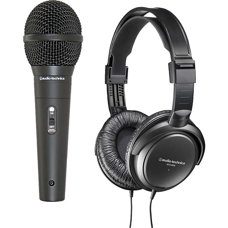 Audio-TechnicaM4000S Dynamic Handheld Mic with M10 Headphones