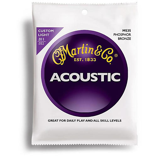 Martin M535 Phosphor Bronze Custom Light Acoustic Guitar Strings