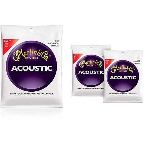 Martin M540 Phosphor Bronze Light Acoustic Guitar Strings - 3 Pack