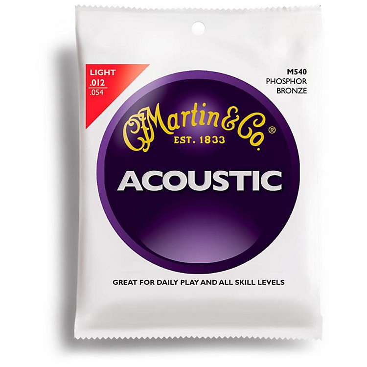 MartinM540 Phosphor Bronze Light Acoustic Guitar Strings