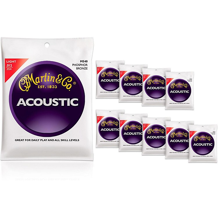 Martin M540 Phosphor Bronze Light Acoustic Strings 10-Pack