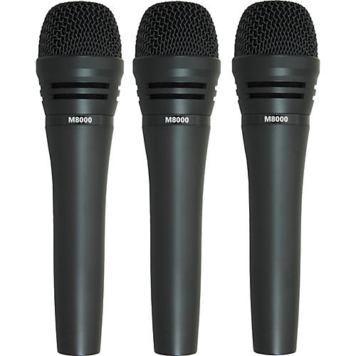 Audio-Technica M8000 Dynamic Mic 3 Pack