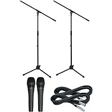 Audio-Technica M8000 Dynamic Mic with Stand and Cable 2 Pack