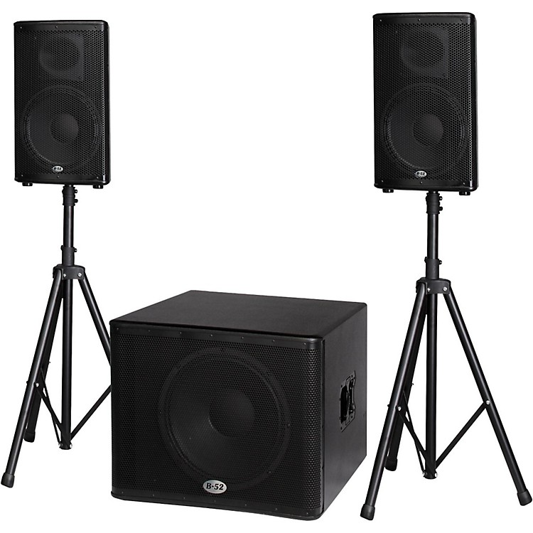 b 52 matrix 2500 3 piece active speaker system musician 39 s friend. Black Bedroom Furniture Sets. Home Design Ideas