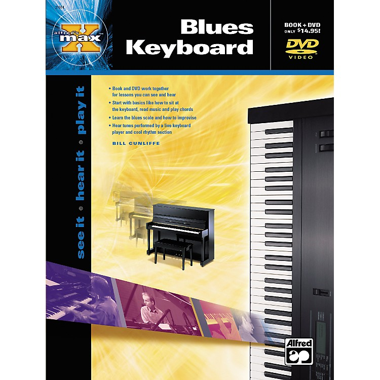 Alfred MAX Series Blues Keyboard Instruction (Book/DVD)