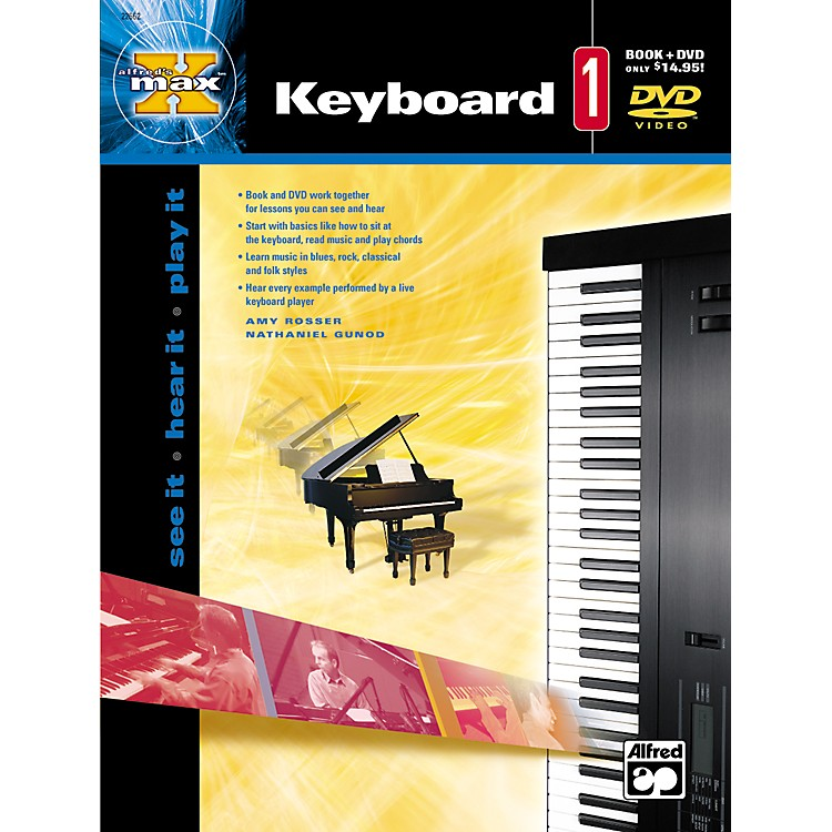 Alfred MAX Series Keyboard Instruction 1 (Book/DVD)