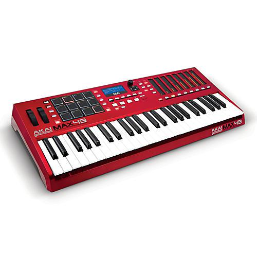 Akai Professional MAX49 USB/MIDI/CV Keyboard Controller Red