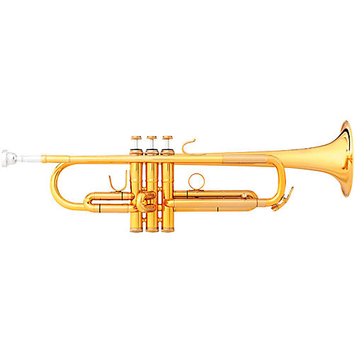 B&S MBX-GL Challenger II Bb Trumpet Gold Lacquer Reverse Leadpipe