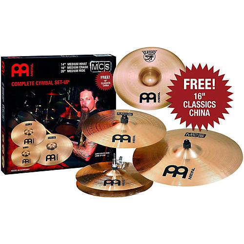 Meinl MCS 3-Cymbal Set + Free 16 Inch China-thumbnail