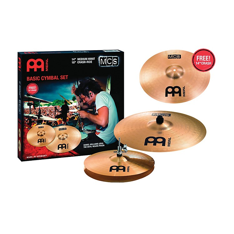 Meinl MCS Cymbal Pack with Free 14 Inch Crash