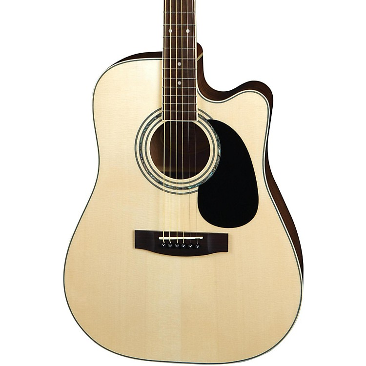 Mitchell MD100SCE Dreadnought Cutaway Acoustic-Electric Guitar Natural