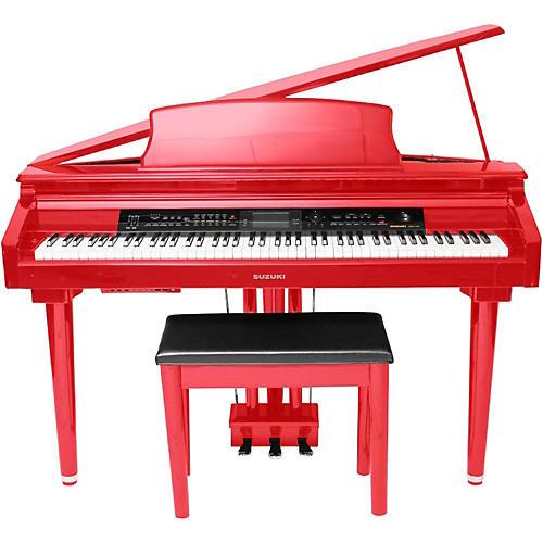 Suzuki MDG-300 Micro Grand Digital Piano Soft Red Red