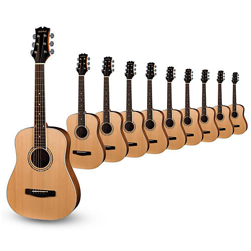 mitchell mdj10 junior dreadnought acoustic guitar 10 pack musician 39 s friend. Black Bedroom Furniture Sets. Home Design Ideas