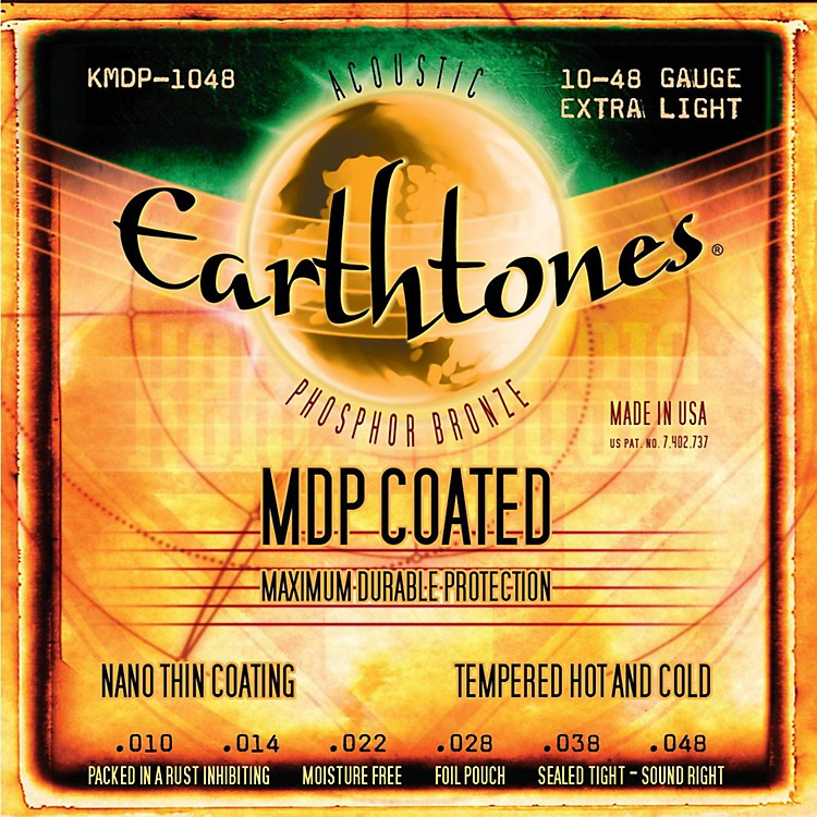 Kerly MusicMDP Earthtones PB Extra Light Coated Acoustic Guitar Strings
