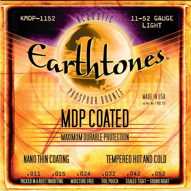 Kerly MusicMDP Earthtones PB Light Coated Acoustic Guitar Strings