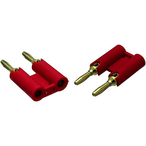 Rapco Horizon MDPR Red Banana Plugs 2-Pack