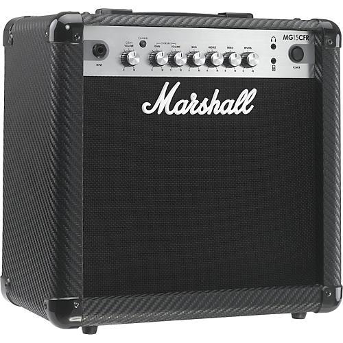 Marshall MG Series MG15CFR 15W 1x8 Guitar Combo Amp Carbon Fiber