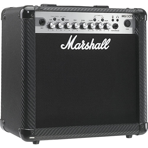 Marshall MG Series MG15CFX 15W 1x8 Guitar Combo Amp Carbon Fiber