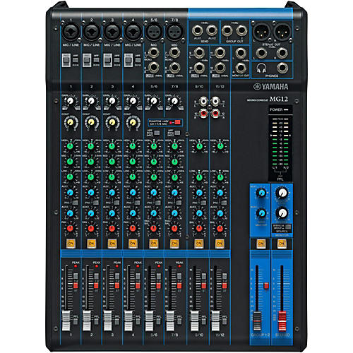 yamaha mg12 12 channel mixer musician 39 s friend