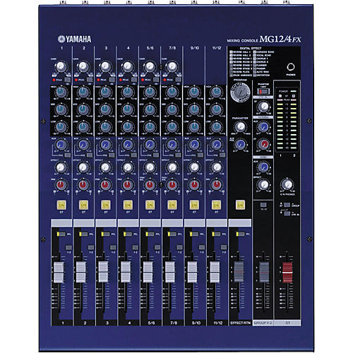 Yamaha mg12 4fx 12 input mixer musician 39 s friend for Yamaha mg12 case