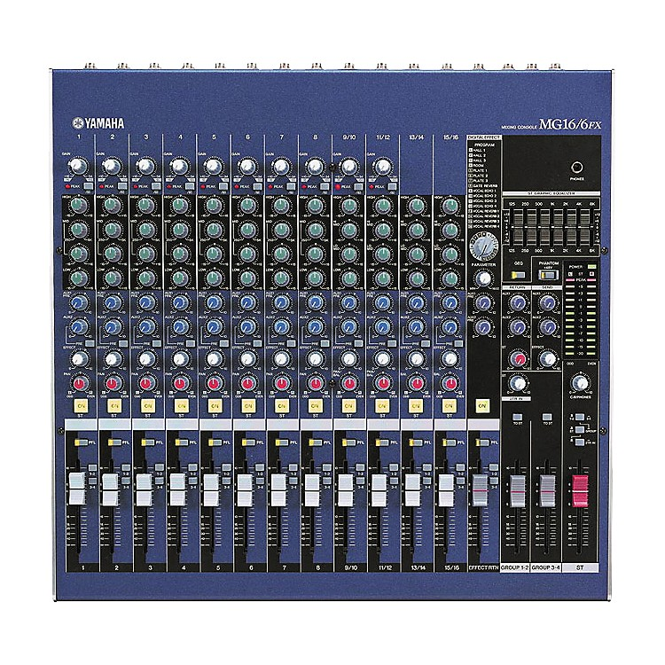Yamaha MG16/6FX 16-Input 6-Bus Mixer with DSP