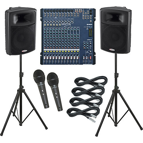 Yamaha MG166C-USB / Harbinger APS15 PA Package