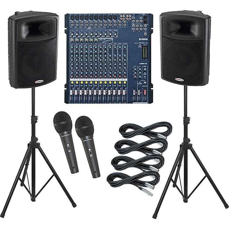 YamahaMG166C-USB / Harbinger APS15 PA Package