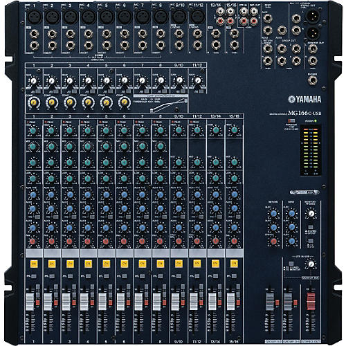 Yamaha MG166C-USB 16 Channel USB Mixer With Compression