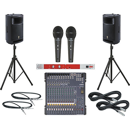 Yamaha MG166CX / MSR400 PA Package with BBE 382i