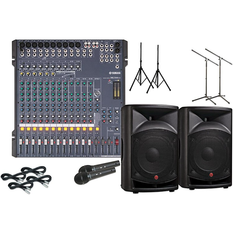 yamaha mg166cx with v2112 12 speaker pa package musician 39 s friend. Black Bedroom Furniture Sets. Home Design Ideas